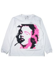 """画像1: FROM THE GARRET [フロムザギャレット] """"KURRY FACE LS"""" [SEX / Marilyn Monroe × Sid Vicious] [WHITE] (1)"""