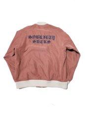 画像2: Black Weirdos [ブラック ウィドゥ] Rayon Night Jacket  [Salmon Pink] (2)