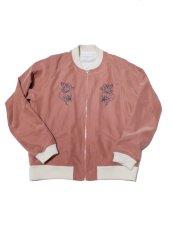 画像1: Black Weirdos [ブラック ウィドゥ] Rayon Night Jacket  [Salmon Pink] (1)