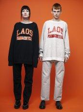 画像2: Black Weirdos [ブラック ウィドゥ] LAOS College Sweat [BLACK] (2)