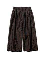 画像1: Sasquatchfabrix.  [サスクワッチファブリックス] TACO-KARAKUSA FLARE EASY PANTS [BLACK]  (1)