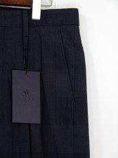 画像4: URU [ウル] INVERTED PLEATS  PANTS [D.NAVY]  (4)