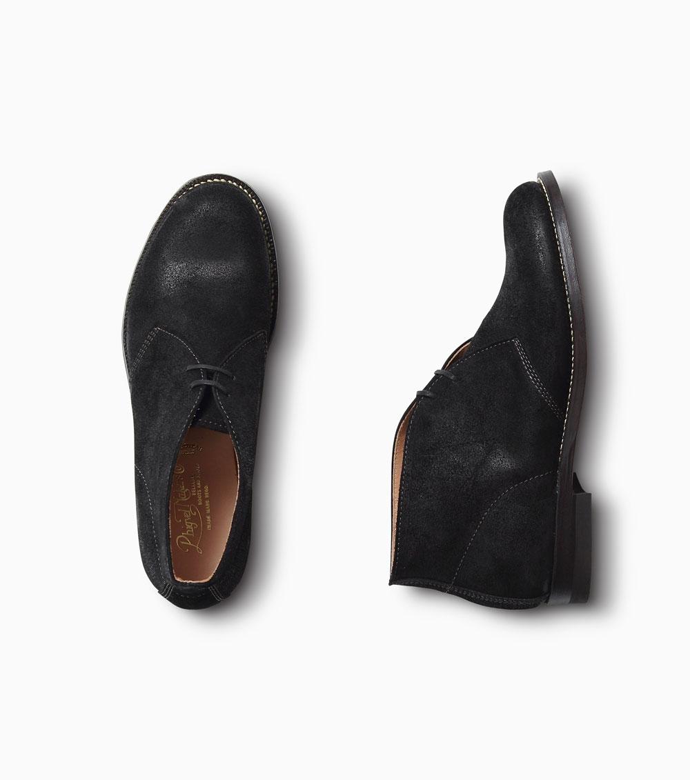 画像1: PHIGVEL [フィグベル] DESERT BOOTS [VINTAGE BLACK] (1)
