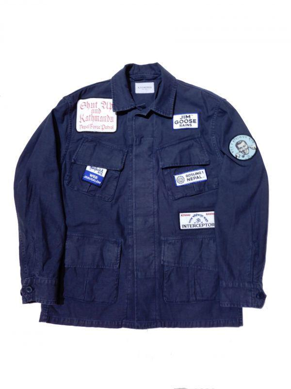 画像1: Black Weirdos [ブラック ウィドゥ] Fatigue Jacket [NAVY] (1)