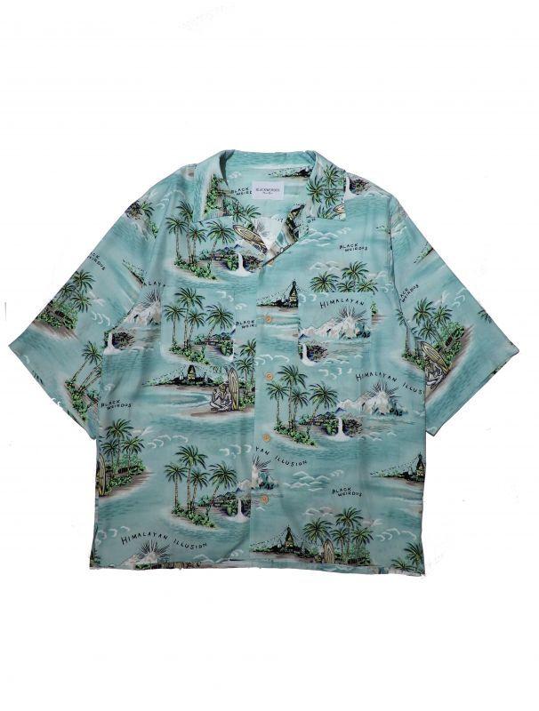 画像1: Black Weirdos [ブラック ウィドゥ] Himalayan Aloha Shirt  [MINT] (1)