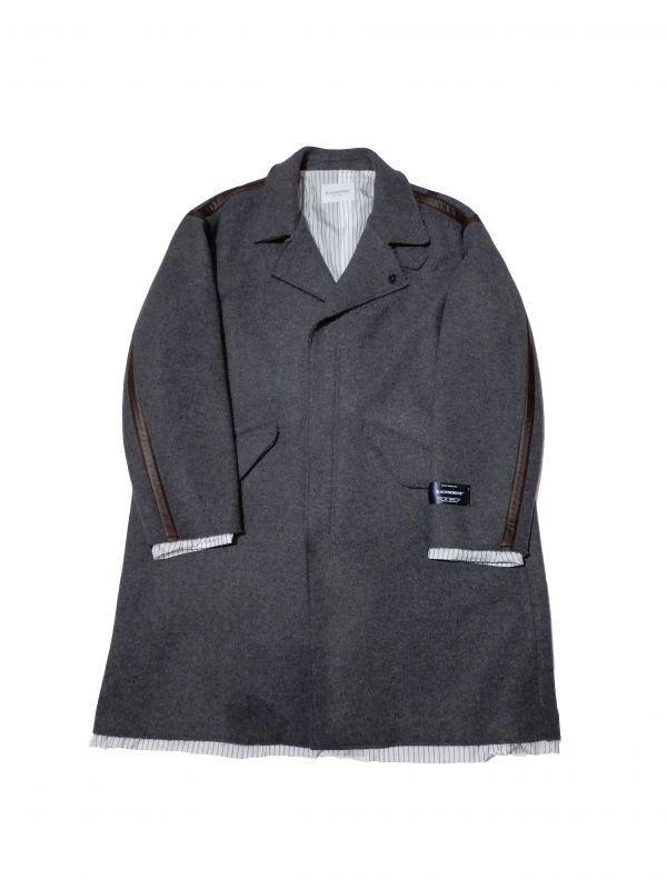 画像1: Black Weirdos [ブラック ウィドゥ] Taping Layered Coat  [GRAY] (1)