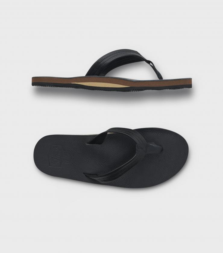 画像1: PHIGVEL [フィグベル] Leather Beach Sandal [BLACK] (1)