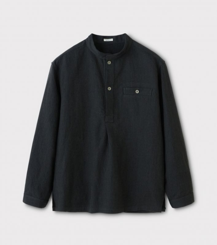 画像1: PHIGVEL [フィグベル] Pullover Shirt Jacket [CARBON] (1)