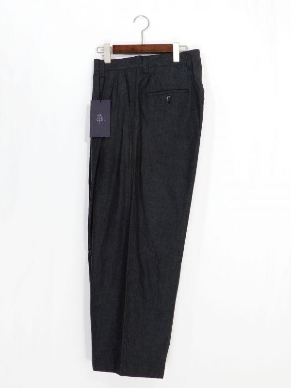 画像1: URU [ウル] 1 TUCK  PANTS [F BLACK]  (1)