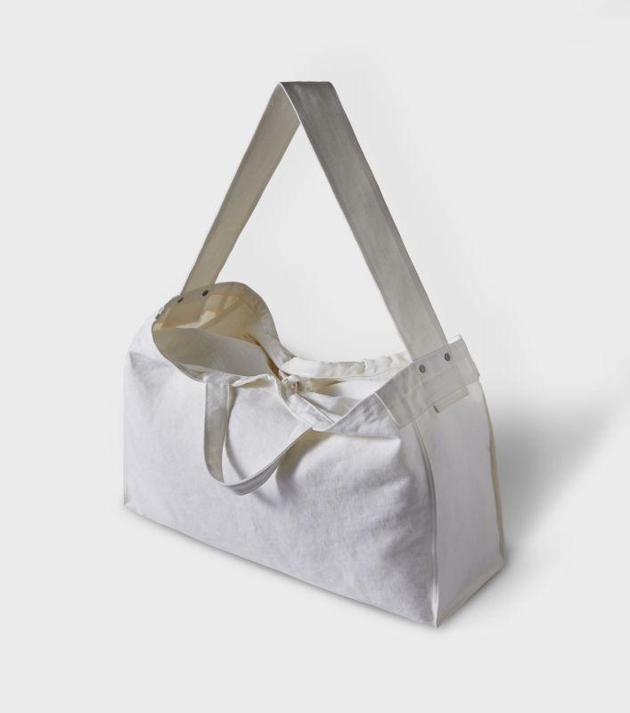 画像1: PHIGVEL [フィグベル] Heavy Linen Newspaper Bag [Off White] (1)