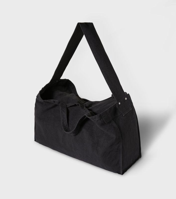 画像1: PHIGVEL [フィグベル] Heavy Linen Newspaper Bag [Ink Black] (1)
