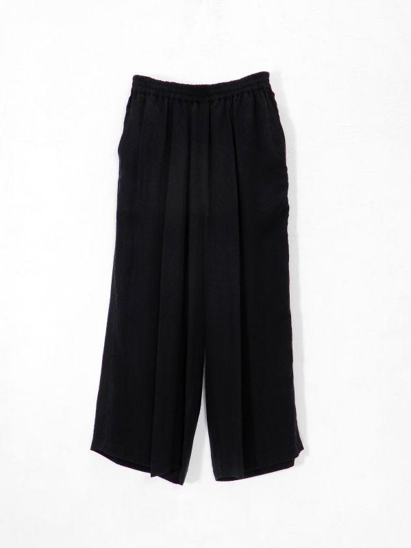 画像1: URU [ウル] EASY WIDE PANTS [BLACK]  (1)